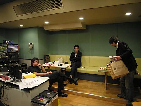 収録終了後のスタジオ内